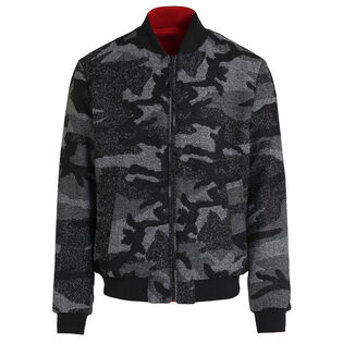 Men's Reversible Wool Cruiser Bomber Jacket