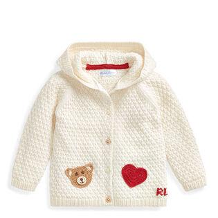 Cardigan en coton à motifs crochetés pour bébés filles [6-24M]