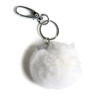 Cat Ears Fur Keychain