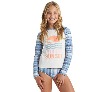 Junior Girls' [8-14] In A Wave Rashguard Two-Piece Set