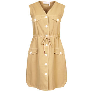Women's Sleeveless Safari Dress