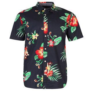 Chemise Trap à motif floral pour hommes