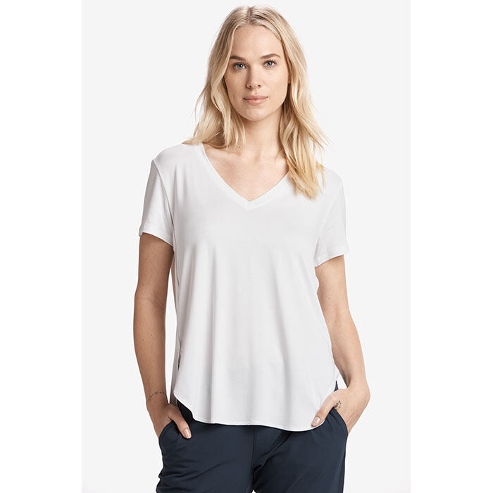 T-shirt à col en V Agda pour femmes