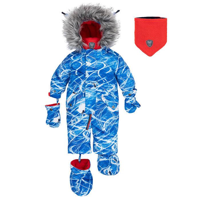 Baby Boy' [6-24M] Slalom Trails One-Piece Snowsuit