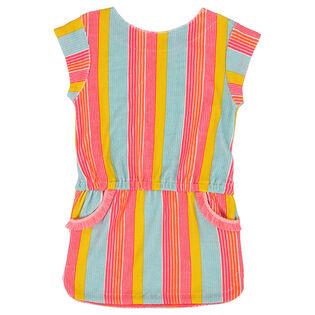 Girls' [3-6] Multicoloured Stripe Dress
