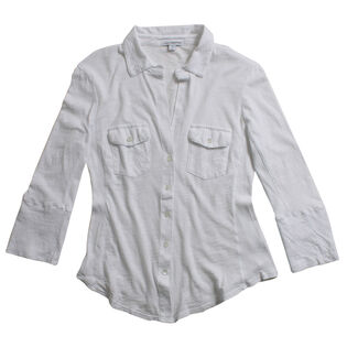 Women's Sheer Slub Side Panel Shirt