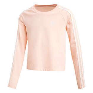 Junior Girls' [8-16] 3-Stripes Cropped Long Sleeve T-Shirt