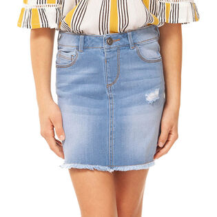 Junior Girls' [7-14] Stretch Denim Skirt
