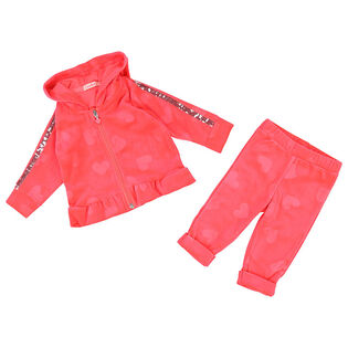 Baby Girls' [12-24M] Velvet Two-Piece Track Suit