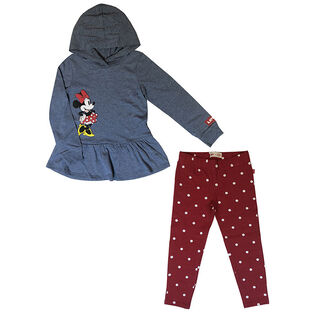 Girls' [4-6X] Disney® Minnie Hoodie + Legging Two-Piece Set