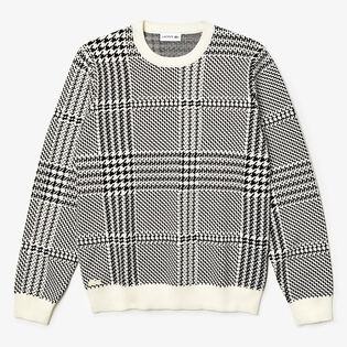 Men's Houndstooth Jacquard Sweater