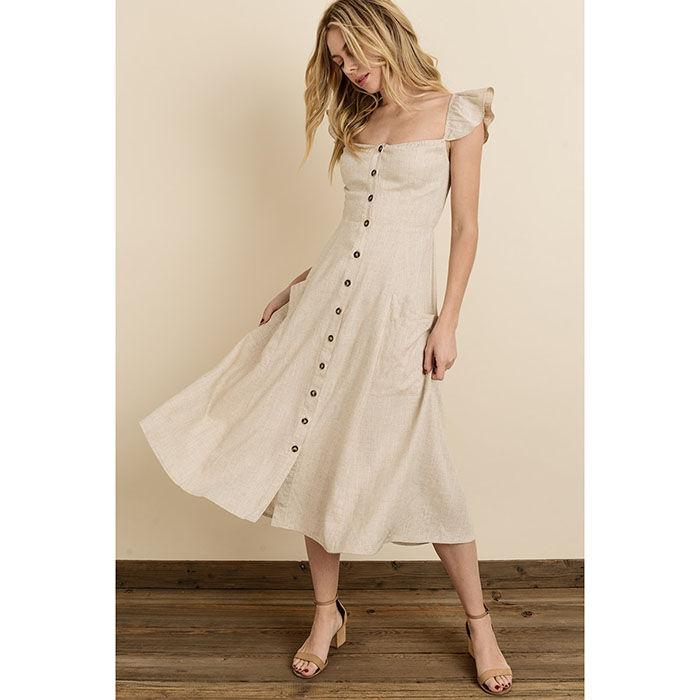 Women's Button-Down Midi Dress