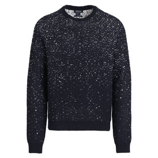 Men's Jacquard Crew Neck Sweater