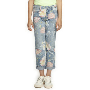 Junior Girls' [7-14] Floral Pattern Jean