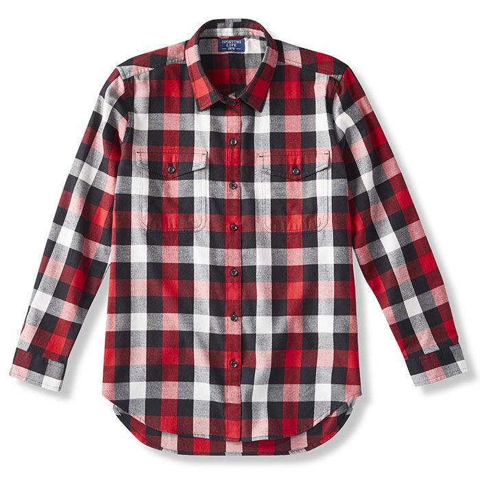 Women's Boyfriend Fit Pocket Flannel Shirt