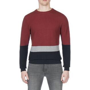 Men's Textured Colour Block Sweater