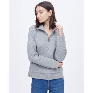 Women's 1/4-Zip Quilted Fleece Top