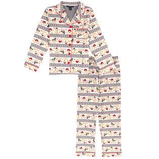 Ensemble pyjama deux pièces Winter Fair Isle pour filles juniors