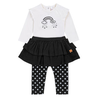 Baby Girls' [3-18M] Off-White Two-Piece Set
