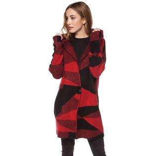 Women's Buffalo Check Hooded Cardigan
