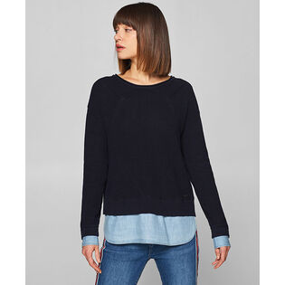 Women's Layered Pullover Sweater