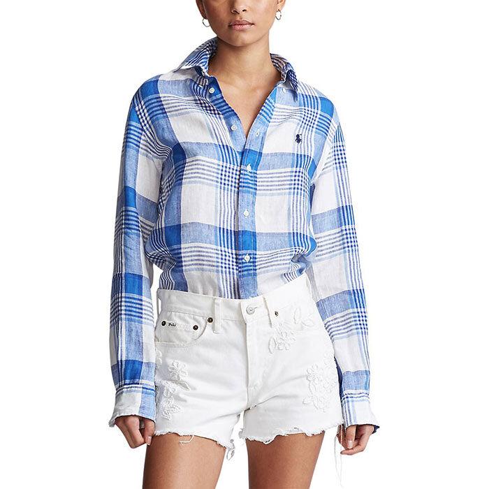 Women's Linen Button-Down Shirt