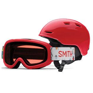 Juniors' Zoom Helmet + Rascal Snow Goggle Combo [2021]