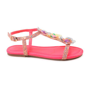 Juniors' [10-3] Glitter Flower Sandal