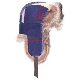 Women's Fur Plaid Trapper Hat