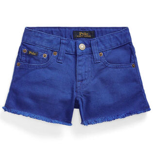 Girls' [5-6X] Polo Cotton Denim Short