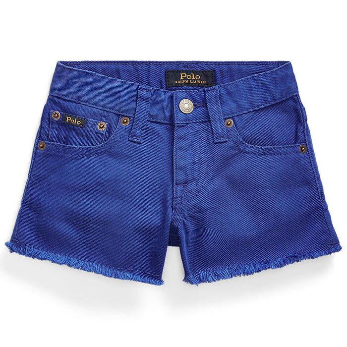Short en denim en coton Polo pour filles [5-6X]