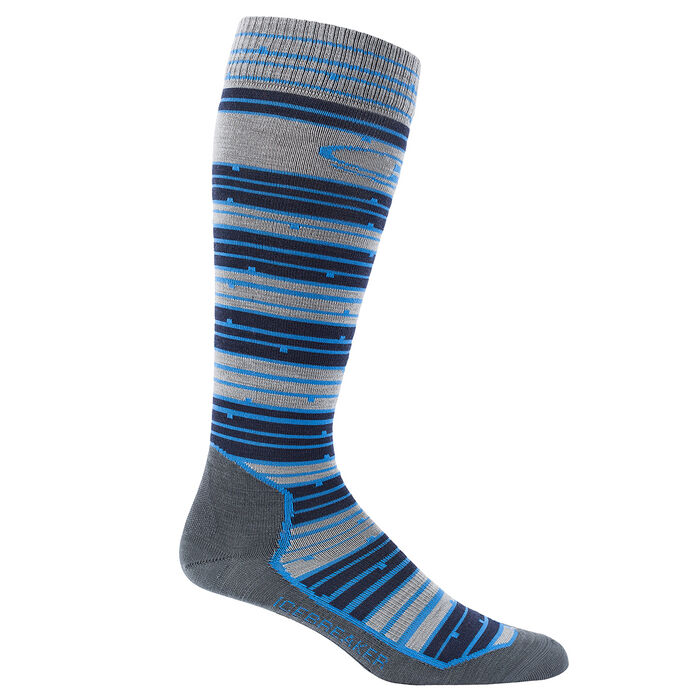 Men's Ski+ Ultra Light Over The Calf Toothstripe Sock