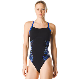 Women's Force Flow Splice Flyback One-Piece Swimsuit