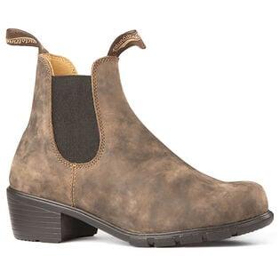 #1677 Women's Series Heeled Boot In Rustic Brown