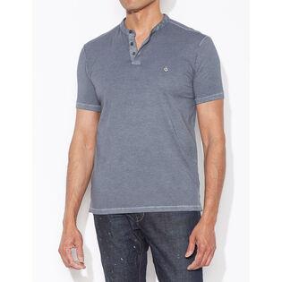 Men's Washed Henley T-Shirt