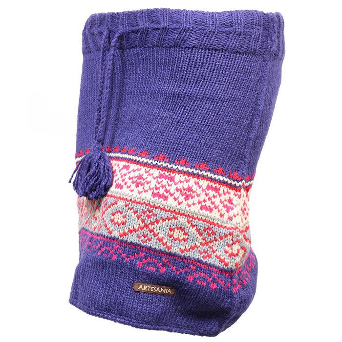 Jupe à motif en laine pour femmes