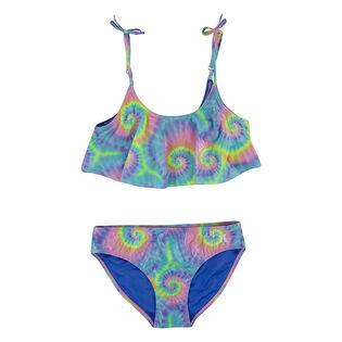 Junior Girls' [7-16] Tie-Dye Flutter Two-Piece Bikini