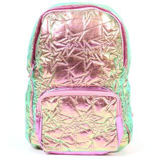 Junior Girls' Hologram Stars Quilted Backpack
