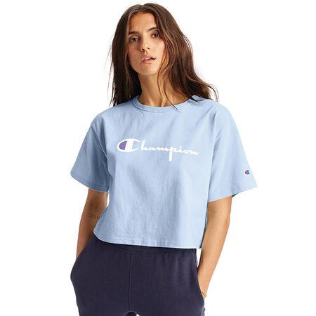 Champion - T-shirt court à grand logo pour femmes