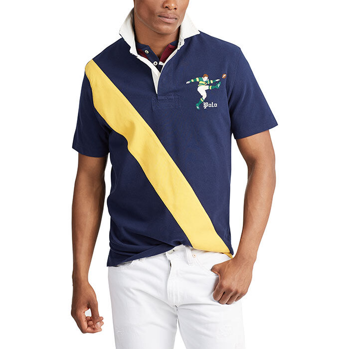 Men's Classic Fit Mesh Rugby Shirt