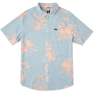 Men's Sage Vaughn Linear Button-Up Shirt