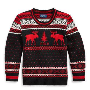 Boys' [2-4] Reindeer Wool-Blend Sweater