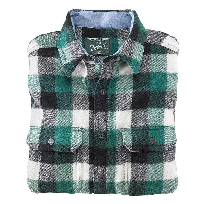 Chemise à carreaux en laine Buffalo pour hommes