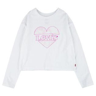 Junior Girls' [7-16] High Rise Graphic Long Sleeve T-Shirt