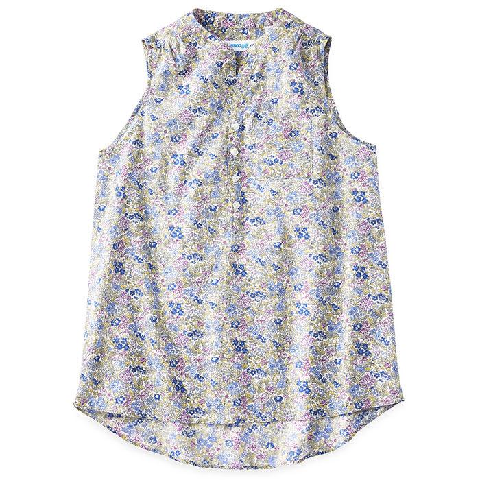 Women's Sleeveless Floral Printed Shirt