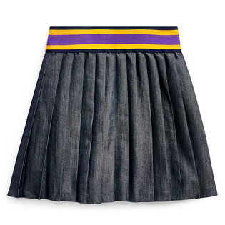 Girls' [2-4] Pleated Cotton-Blend Skirt