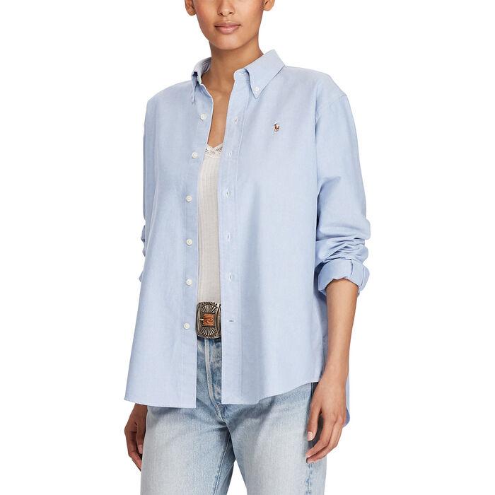 Grande chemise en coton Oxford pour femmes