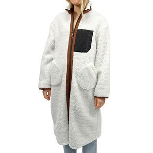 Veste longue en sherpa pour femmes
