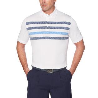 Men's Space Dye Stripe Polo