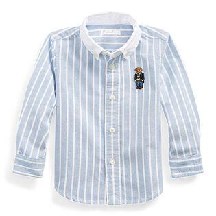 Chemise oxford Polo Bear à rayures pour bébés garçons [9-24M]